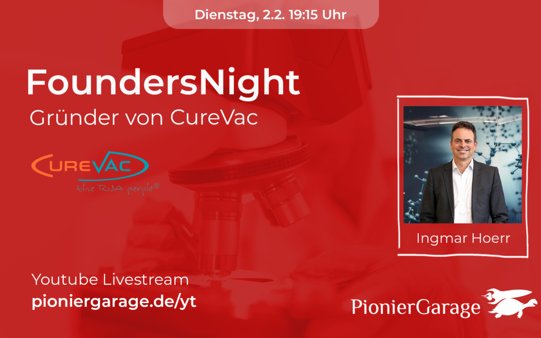CureVac Gründer | Ingmar Hoerr | FoundersNight