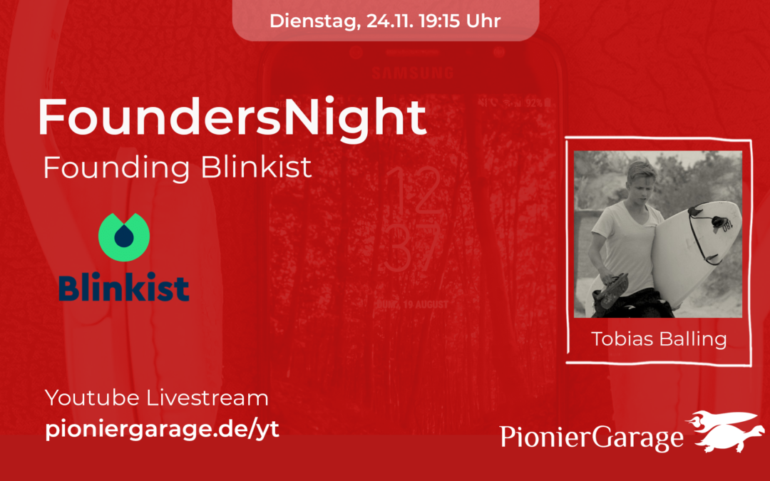 Blinkist | Co-Founder Tobias Balling | FoundersNight